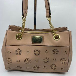 Nicole Leather Tan Handbag